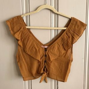 NWT Urban Outfitters Ruffle Crop Top